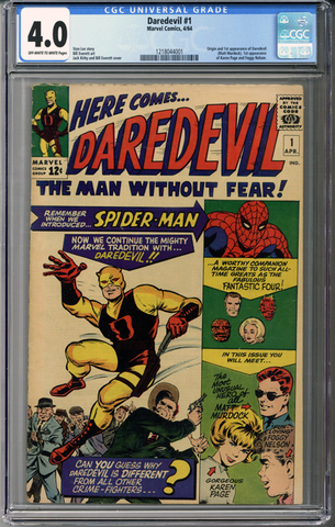 Colorado Comics - Daredevil #1  CGC 4.0