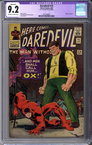 Daredevil #15 CGC 9.2 Apparent