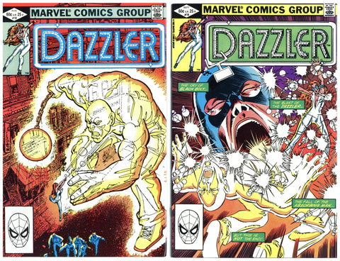 Dazzler #18 thru 25 VF+ to NM (8 books total)