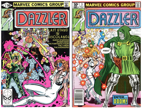 Dazzler #2 thru 9 (8 books total) VF to NM