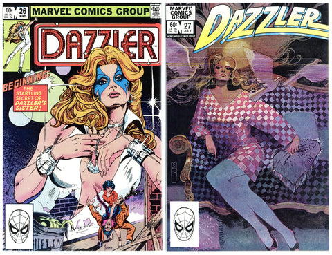 Dazzler #26 thru 33 VF+ to NM (8 books total)