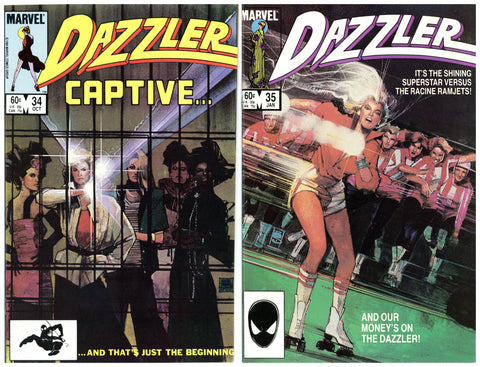 Dazzler #34 thru 41 VF to NM (7 books total)
