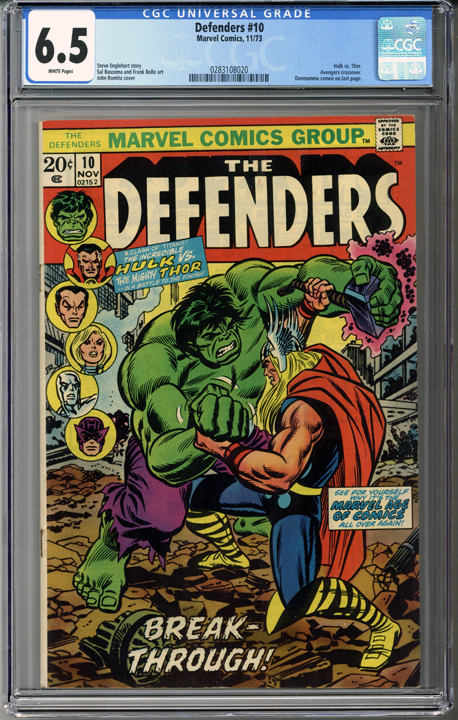 Colorado Comics - The Defenders #10  CGC 6.5