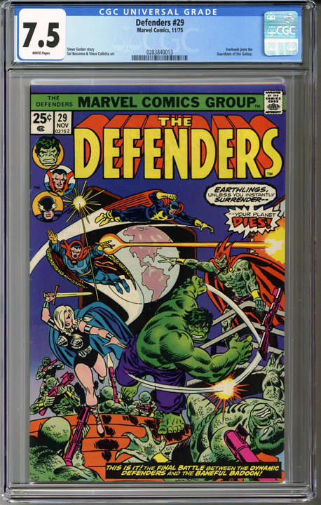 Colorado Comics - The Defenders #29  CGC 7.5