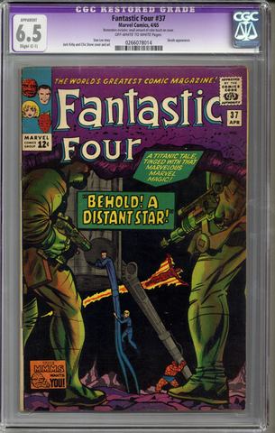 Fantastic Four #37  CGC 6.5 C-1 slight restoration