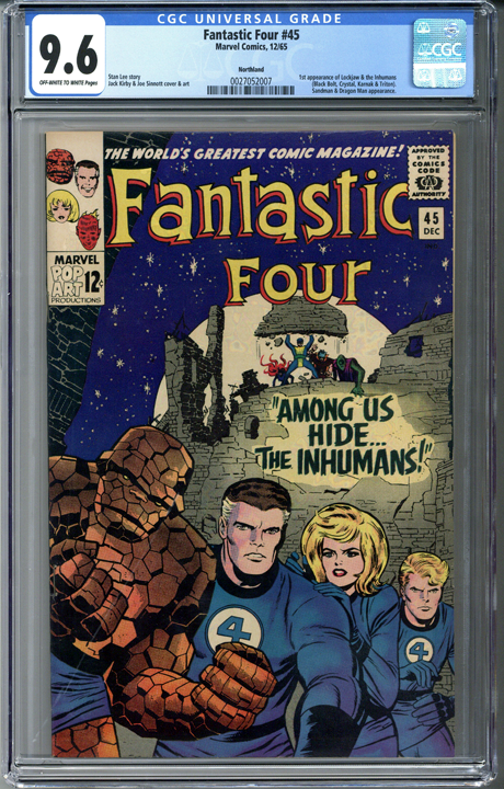 Fantastic Four #45 CGC 9.6 - Northland Pedigree