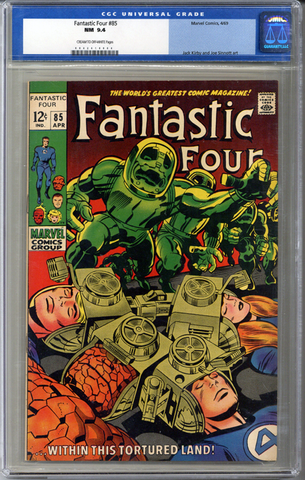 Colorado Comics - Fantastic Four #85  CGC 9.4