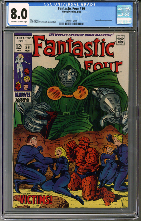 Colorado Comics - Fantastic Four #86  CGC 8.0