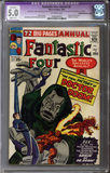 Fantastic Four Annual #2  CGC 5.0 C-1 slight restoration