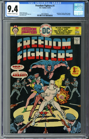 Freedom Fighters #1 CGC 9.4