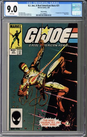 Colorado Comics - G.I. Joe, A Real American Hero #21  CGC 9.0