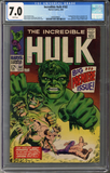 Colorado Comics - Incredible Hulk #102  CGC 7.0