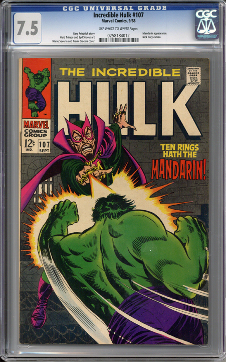 Colorado Comics - Incredible Hulk #107  CGC 7.5