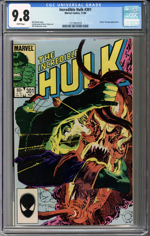 Colorado Comics - Incredible Hulk #301  CGC 9.8