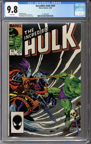 Colorado Comics - Incredible Hulk #302  CGC 9.8