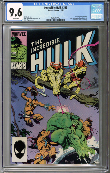Colorado Comics - Incredible Hulk #313  CGC 9.6