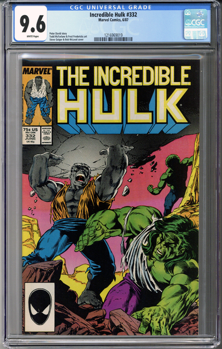 Colorado Comics - Incredible Hulk #332  CGC 9.6