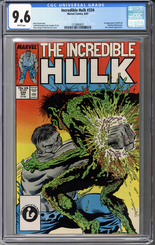 Colorado Comics - Incredible Hulk #334  CGC 9.6