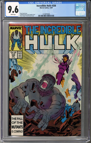 Colorado Comics - Incredible Hulk #338  CGC 9.6