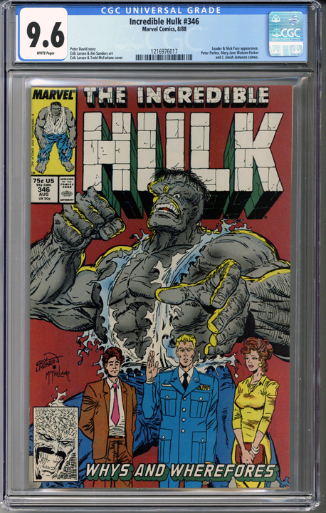 Colorado Comics - Incredible Hulk #346  CGC 9.6