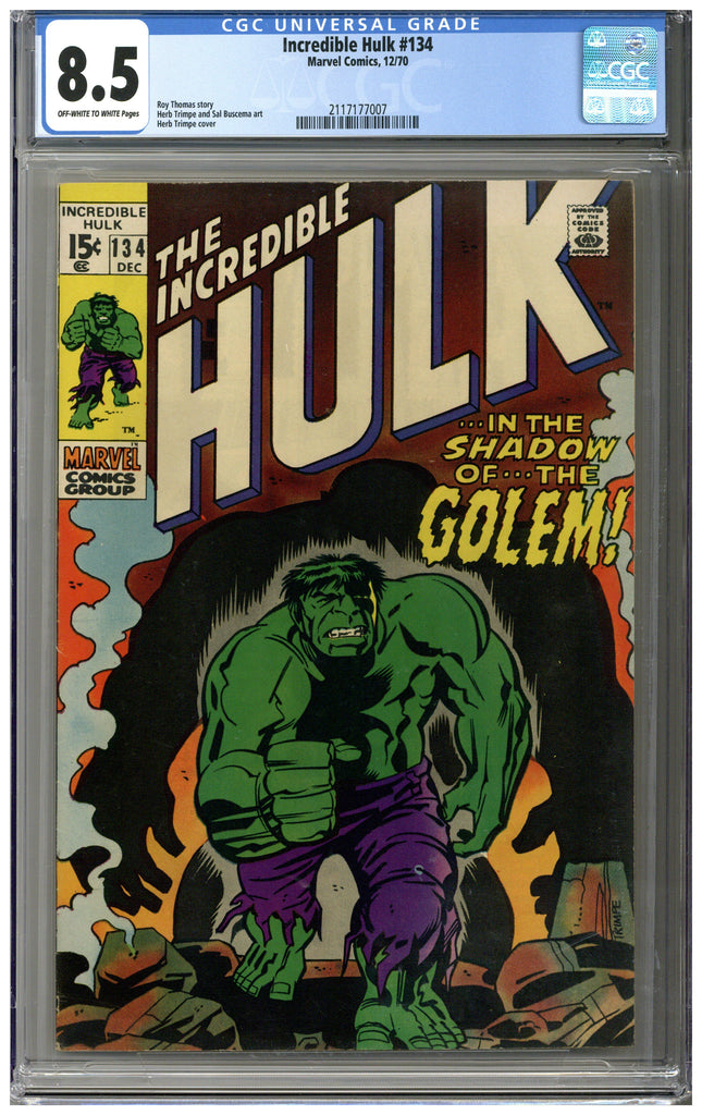 Incredible Hulk #134 CGC 8.5