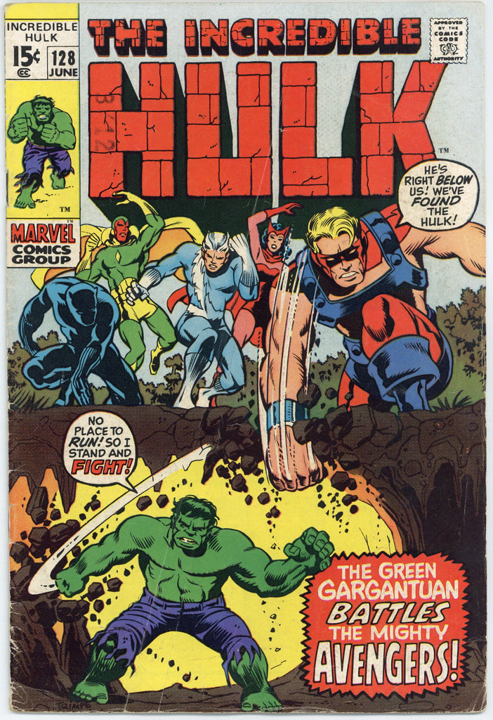 Incredible Hulk #128 VG