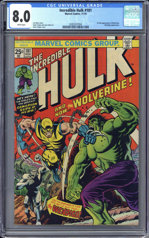 Colorado Comics - Incredible Hulk #181  CGC 8.0
