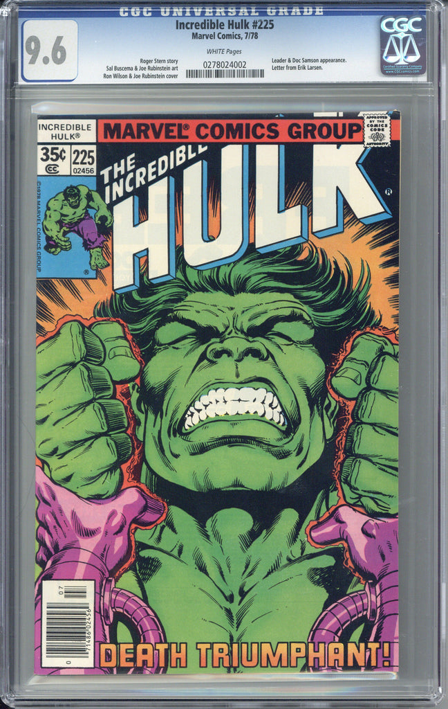 Colorado Comics - Incredible Hulk #225  CGC 9.6