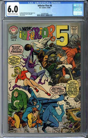 Inferior Five #8 CGC 6.0