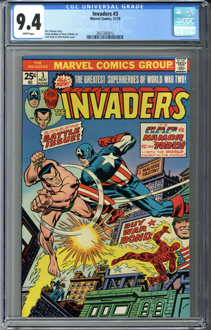 Invaders #3 CGC 9.4