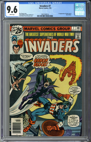 Invaders #7 CGC 9.6