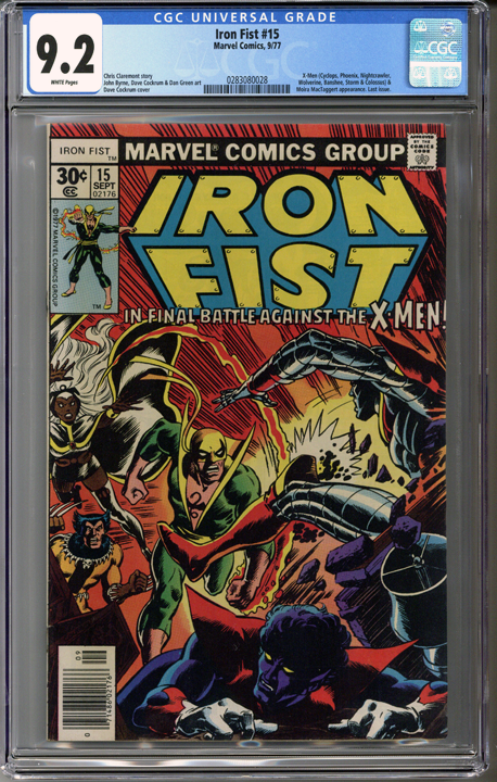 Colorado Comics - Iron Fist #15  CGC 9.2