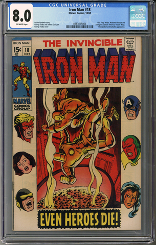 Colorado Comics - Iron Man #18  CGC 8.0