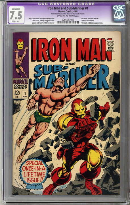 Colorado Comics - Iron Man and Sub-Mariner #1  CGC 7.5  C-1 slight restoration
