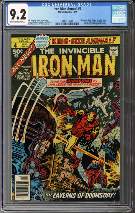 Iron Man Annual #4  CGC 9.2