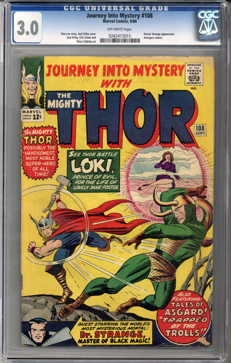 Colorado Comics - Journey into Mystery #108  CGC 3.0