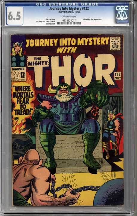 Colorado Comics - Journey into Mystery #122  CGC 6.5