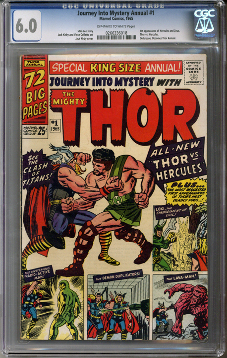 Journey into Mystery Annual #1  CGC 6.0