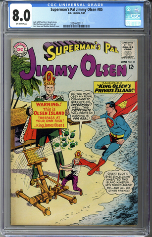 Superman's Pal Jimmy Olsen #85 CGC 8.0