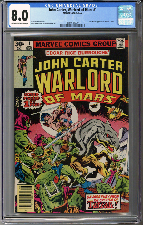 Colorado Comics - John Carter, Warlord of Mars #1  CGC 8.0