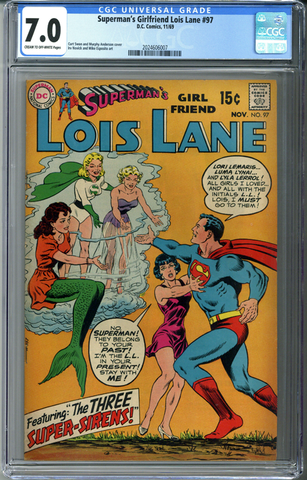 Superman's Girlfriend Lois Lane #97 CGC 7.0