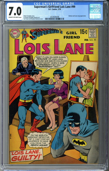 Superman's Girlfriend Lois Lane #99 CGC 7.0