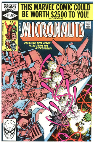 The Micronauts #21 NM+