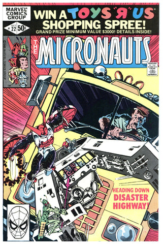 The Micronauts #22 NM+