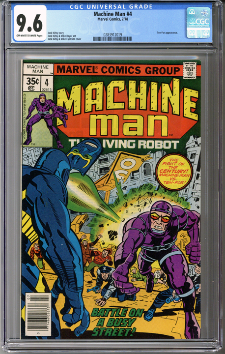 Colorado Comics - Machine Man #4  CGC 9.6