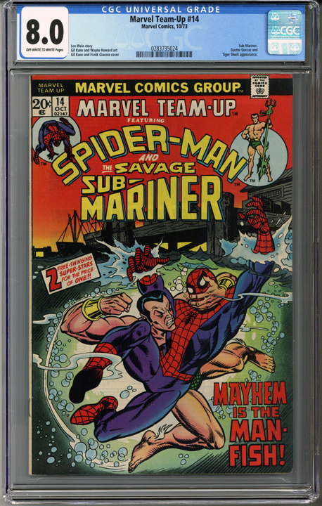 Colorado Comics - Marvel Team-Up #14  CGC 8.0