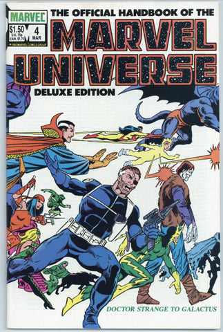 The Official Handbook of the Marvel Universe #4, 6, 7 and 9 NM (4 books total)