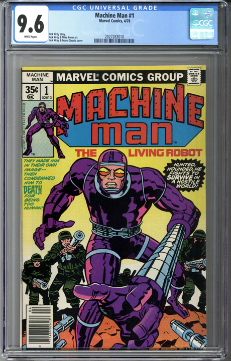Machine Man #1 CGC 9.6