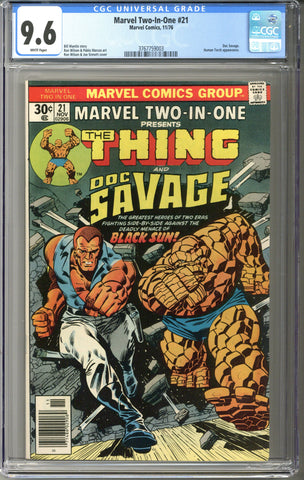Marvel Two-In-One #21 CGC 9.6