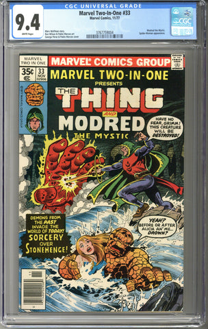 Marvel Two-In-One #33 CGC 9.4